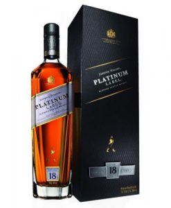 Johnnie Walker 18 Year Old Platinum Label Blended Scotch Whisky 750ML Johnnie Walker Platinum Label is a rich and contemporary blended Scotch Whisky inspired by the Walker family's tradition of crafting 'private blends' for directors of its company and for special occasions. The Master Blender has crafted a contemporary 18 year old Scotch Whisky for today's sophisticated consumer and is rich and refined - a symbol of style that rewards those who take the time to savour it. The trademark Johnnie Walker smokiness is entrenched in this whisky that strongly embodies the sweet and elegant Speyside style. Crafted from single malt and grain whiskies, Platinum is a complex blend with deep layers of balanced flavours of both whisky and wood in which it has rested for a minimum of 18 years.