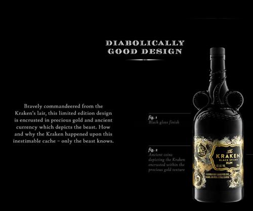 Kraken Limited Edition Ceramic 2020 Black Spiced Rum