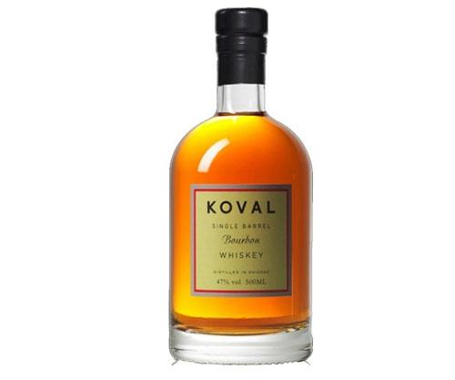 Koval Single Barrel Bourbon Whiskey 500mL