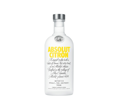 Absolut Citron Flavoured Vodka 700mL