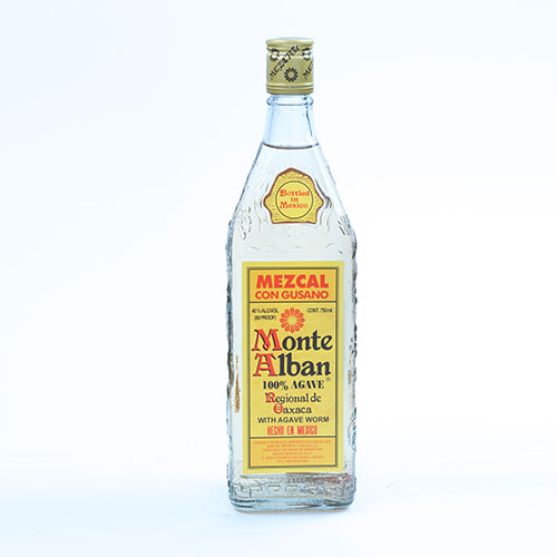 MONTE ALBAN MEZCAL WITH WORM – 40% VOL 750ML BTL
