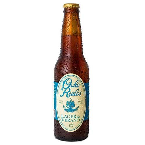 OCHO REALES LAGER DE VERANO (CRAFT GLUTEN FREE BEER)- 24 X 355ML 4% ALCOHOL