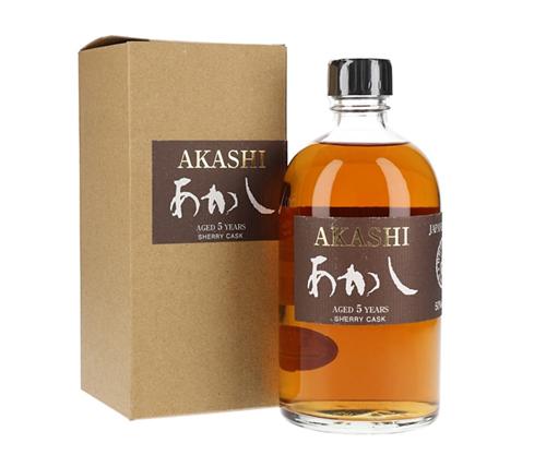 White Oak Akashi Single Cask 5 Year Old Sherry Matured Single Malt Japanese Whisky 500mL