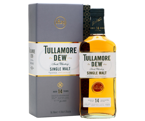 TULLAMORE DEW 14 YEAR SINGLE MALT IRISH WHISKEY