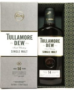 TULLAMORE DEW 14 YEAR SINGLE MALT IRISH WHISKEY OLD