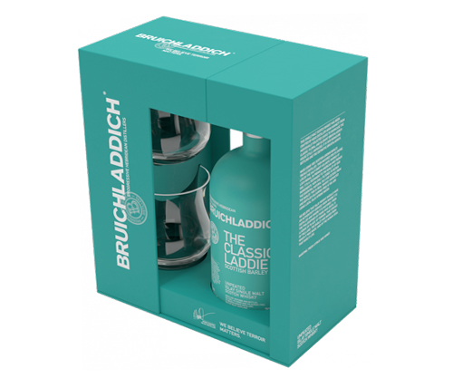 Bruichladdich Laddie Classic Scotch Whisky Gift Pack 700mL