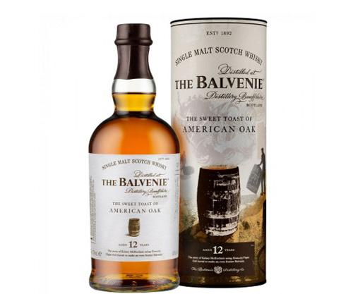 The Balvenie 12 Year Old American Oak Single Malt Scotch Whisky 700mL