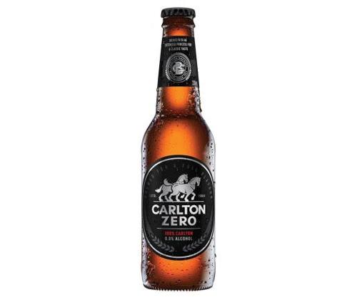 CARLTON ZERO NON ALCOHOLIC BEER