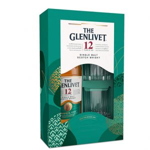 GLENLIVET 12YO SCOTCH WHISKY + 2 GLASSES GIFT 700ML