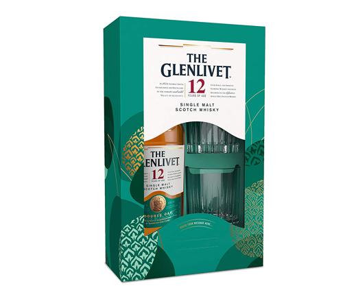 GLENLIVET 12YO SCOTCH WHISKY + 2 GLASSES GIFT 700ML