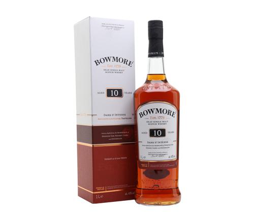 Bowmore Dark & Intense 10 Year Old Single Malt Scotch Whisky 1000ml