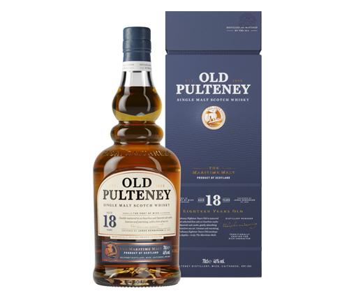 Old Pulteney 18 Year Old Single Malt Scotch Whisky 700ml