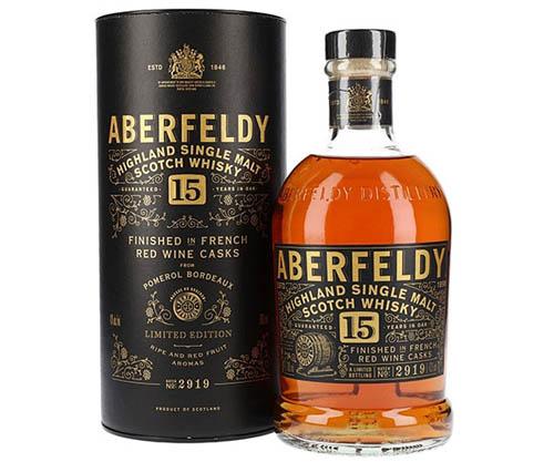 Aberfeldy 15 Year Old French Red Wine Cask Finish Single Malt Scotch Whisky 700ml