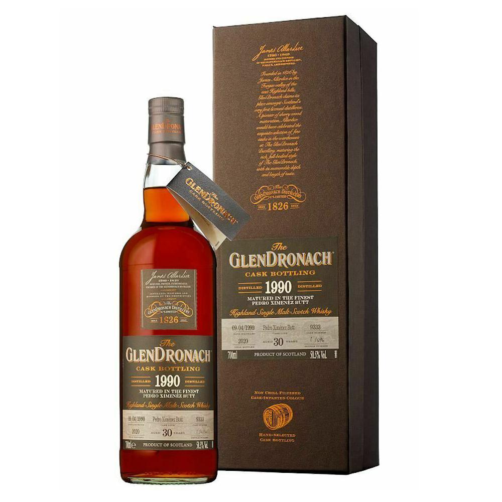 Glendronach 30 Year Old 1990 Cask #9333 PX Butt Cask Strength Single Malt Scotch Whisky 700ml