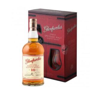 Glenfarclas 10 Year Old + Glass Pack Single Malt Scotch Whisky 700ml
