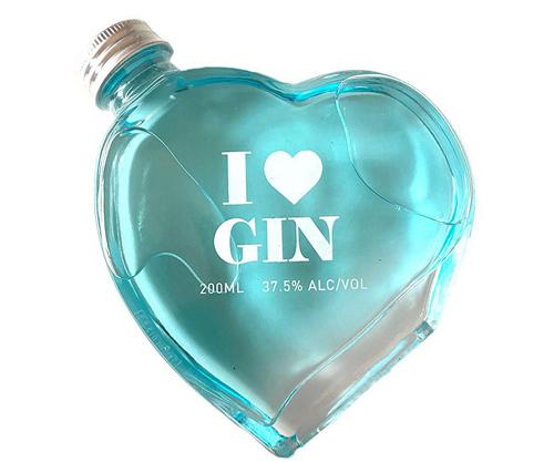 I Love Gin Heart Shaped Bottle 200mL