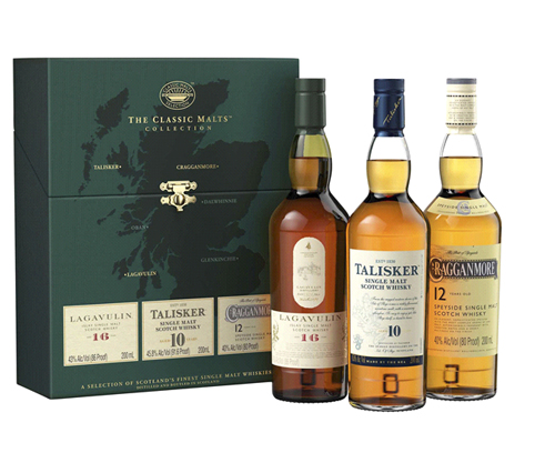 The Classic Strong Malts Scotch Whisky Collection 200mL x 3