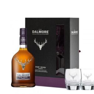 The Dalmore Port Wood Reserve + 2 Glasses Pack Single Malt Scotch Whisky 700mL