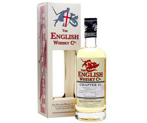 The English Whisky Co Chapter 15 Heavily Peated Single Malt Whisky 700ml