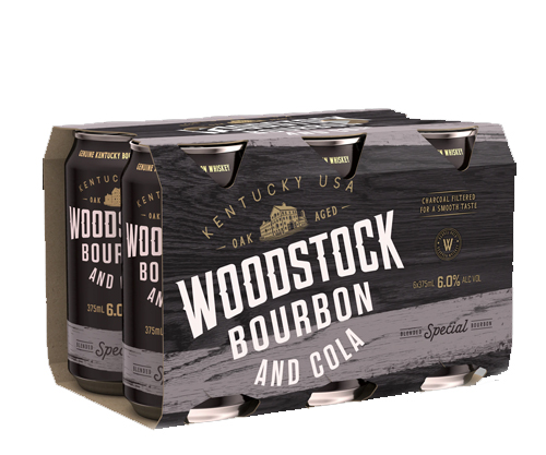 Woodstock Bourbon & Cola Cans 6% 375ml 6 pack